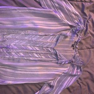 Sheer express shirt w/ cropped sleeves size xs